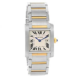 Cartier Tank Francaise W51012Q4 Stainless Steel & 18K Gold 25mm Womens Watch