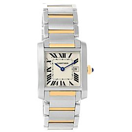 Cartier Tank Francaise W51012Q4 Stainless Steel & 18K Yellow Gold 25mm Womens Watch