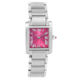 Cartier Tank Francaise W51030Q3 Stainless Steel Limited Edition 20mm Womens Watch
