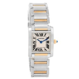 Cartier Tank Francaise W51007Q4 Stainless Steel and Yellow Gold 25mm Quartz Women Watch