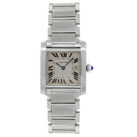 Cartier Tank Francaise 2485 Stainless Steel 25mm Unisex Watch