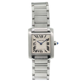 Cartier Tank Francaise W51008Q3 Stainless Steel 20mm Womens Watch