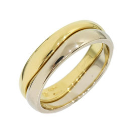 Cartier 18K White & Yellow Gold Love Me Ring Size 5.25
