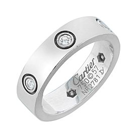 Cartier Love White Gold with diamonds Ring Size 57 (6)