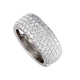 Cartier 18K White Gold with 2.08ct Diamond Band Ring Size 5.25