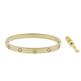 Cartier Love Bracelet New Screw System Yellow Gold Size 18