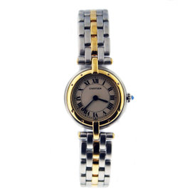 Cartier Panther Vendome Two-Tone Stainless Steel and 18K Yellow Gold 22mm Womens Watch