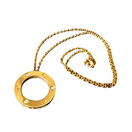 Cartier Yellow Gold & Diamond Circle of Love Necklace