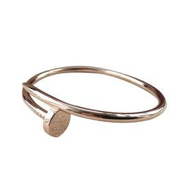 Cartier Juste Un Clou 18K Rose Gold Bangle Bracelet Size 17