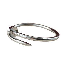 Cartier Juste Un Clou 18K White Gold Bangle Bracelet Size 15
