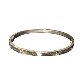 Cartier Love White Gold Mini Bracelet Size 16