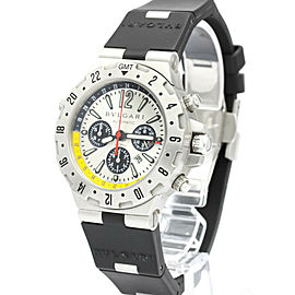 BVLGARI Diagono Flyback Chronograph Steel Mens Watch GMT40SFB