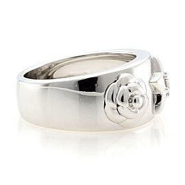 CHANEL 18K white gold Flower star Camellia Diamond 1P Ring