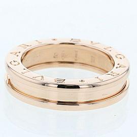 BVLGARI K18Rose Gold Be Zero One Band Ring TBRK-403
