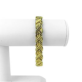 Chimento 18k Yellow White Gold Reversible Ladies Fancy Link Bracelet Italy 8""