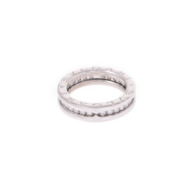 Bulgari B-Zero 1 18K White Gold Diamond Ring Size 4.5