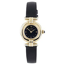 Cartier Must de Cartier 590002 Vermeil Quartz Leather Band 23mm Vintage Womens Watch