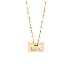"Mini Plate ""Love"" On Chain"