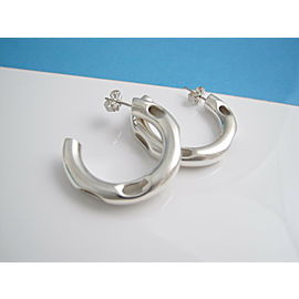 Tiffany & Co Silver RARE Gehry Tube Circle Earring