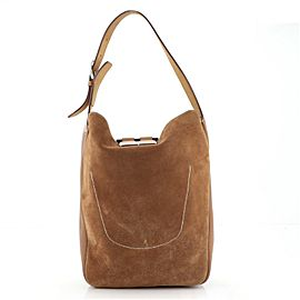Hermes Virevolte Bag Doblis Suede with Clemence 24