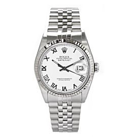 Rolex Datejust 116234 Stainless Steel & White Roman Dial 36mm Mens Watch