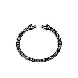 David Yurman Darkened Sterling Silver Classic Cable Renaissance Bracelet