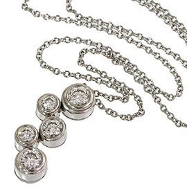 Tiffany & Co. 950 Platinum Bubble Diamonds Pendant Necklace
