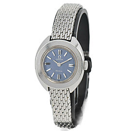 Vintage OMEGA Geneve Blue dial Cal.485 Hand-winding Women's Watch