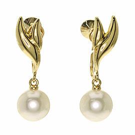 MIKIMOTO 18K Yellow Gold Akoya Pearl Pearl Earring