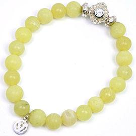 Loree Rodkin Silver Colored Stone Yellow Bracelet