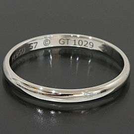 Cartier Platinum Simple Wedding Band Ring TNN-1642