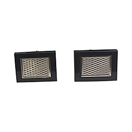 14K White Gold and Black Onyx Cufflinks
