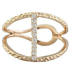 0.12 Carat 14K Rose Gold Diamond Ring