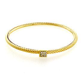 David Yurman Cable 18K Yellow Gold Diamond Bracelet