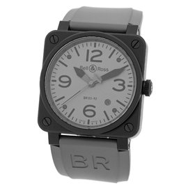 "Bell & Ross ""BR03-92"" Commando Edition Stainless Steel & PVD Mens Strap Watch"