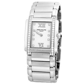 "Patek Philippe ""Twenty-4"" Stainless Steel Diamond 26mm Womens Watch"