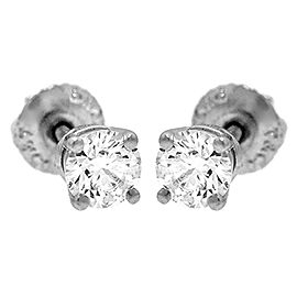 Tiffany & Co. Platinum & 0.76ct Diamond Earrings