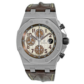 "Audemars Piguet ""Royal Oak Offshore Safari"" Stainless Steel Automatic 42mm Mens Watch"