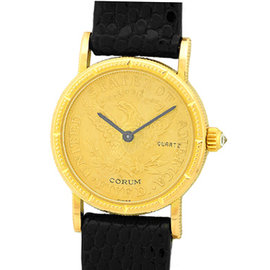 Corum 1894 Five Dollar U.S. Coin 18K Yellow Gold Dress Womens Watch