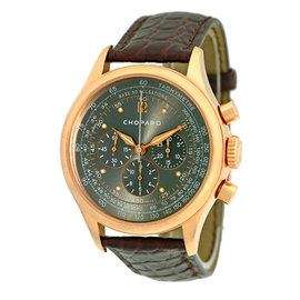 "Chopard ""Mille Miglia Vintage"" 18K Rose Gold Chronograph Watch"