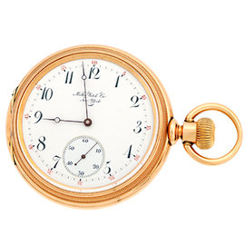 Mathey 18K Rose Gold Vintage Pocket Watch