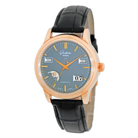 Glashutte Original Senator Perpetual Calendar Automatic 18K Rose Gold Mens Watch