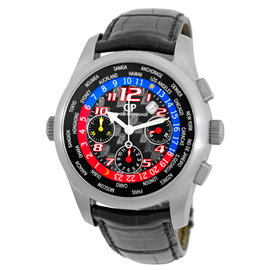 "Girard Perregaux World Time Control ""WW.TC"" Chronograph Titanium Mens Strap Watch"