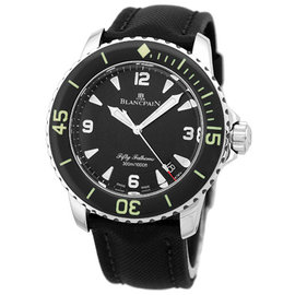 Blancpain Fifty Fathoms Diver Stainless Steel Mens Strap Watch