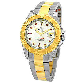 "Rolex ""Yachtmaster"" Stainless Steel & 18K Yellow Gold Automatic Movement 35mm Mens Watch"