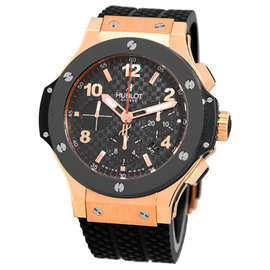 "Hublot ""Big Bang"" Chronograph 18K Rose Gold & Ceramic Mens Watch"