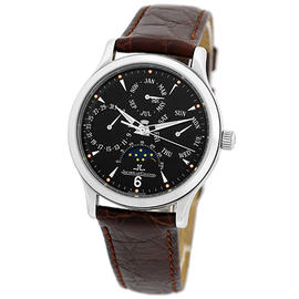 Jaeger-LeCoultre Master Control Perpetual Calendar Moonphase Stainless Steel Mens Watch