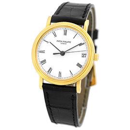 Patek Philippe Calatrava 3802-J 18K Yellow Gold 33.5mm Mens Watch