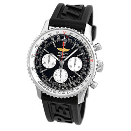 "Breitling ""Navitimer"" AB0120 Stainless Steel & Rubber Automatic 43mm Mens Watch"