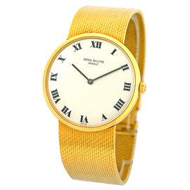 Patek Philippe Calatrava 18K Yellow Gold Vintage 31mm Mens Watch